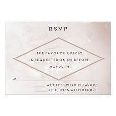 Modern Cafe Watercolor Wedding RSVP Card