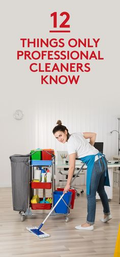 12 Things Only Professional Cleaners Know A few of our favorite cleaning pros share some of their best tips for stubborn spots around the house From stains in the laundr. Household Cleaning Tips, Deep Cleaning Tips, Cleaning Checklist, Cleaning Recipes, House Cleaning Tips, Natural Cleaning Products, Cleaning Solutions, Cleaning Hacks, Household Cleaners