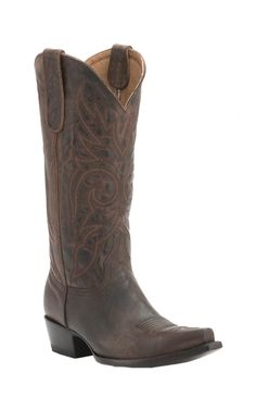 Old Gringo Women's Altaman Chocolate Mad Dog Goat Snip Toe Western Boots