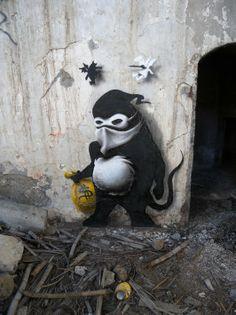 "Street art | Mural ""Thief"" by Cart'1"