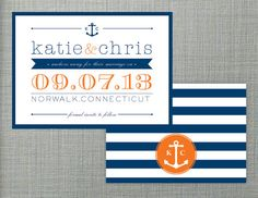 Nautical Save The Date by KLynxDesigns on Etsy, $1.50