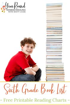 Getting your child's first year of middle school literature ready is easy for you & will be enjoyable for them with this Sixth Grade Book List. #MiddleSchool #MiddleSchoolBookList #SixthGradeBookList #Literature #BookList #Homeschool #Homeschooling #YearRoundHomeschooling