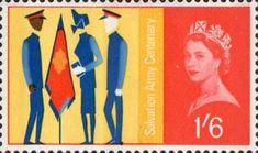 Salvation Army Centenary 1s6d Stamp (1965) Three Salvationists