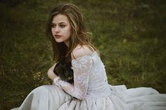 Pretty in white gown