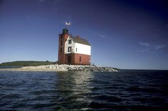 Round Island Lighthouse by Grand Hotel - Mackinac Island, via Flickr