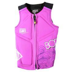 Body Glove Vapor Women's NEO PFD in Purple/Black with Pink Highlights