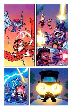 Giant Size: Little Marvel - AVX #1 interior art by Skottie Young *