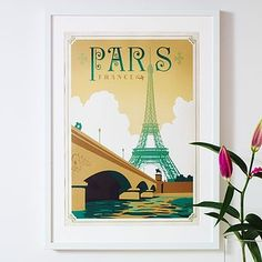 'Paris' Eiffel Travel Poster