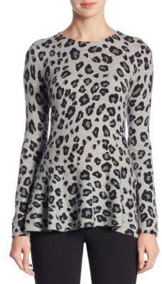 6d8a743e10de Saks Fifth Avenue - COLLECTION Cashmere Printed Peplum Sweater