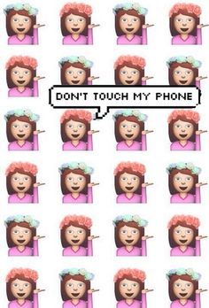 Imagen de emoji, dont touch my phone, and sassy