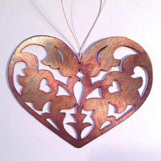 Dutch heart I – Thistlehandmade Mixed Metals, Copper Jewelry, Metal Working, Dutch, Scandinavian, Ornaments, Heart, Stamping, Handmade