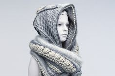 knitting, knitwear, crochet & other fiber obsessions Textiles, Post Apocalyptic Fashion, Apocalyptic Clothing, Design Textile, Blush And Grey, Different Stitches, Mode Inspiration, Knit Crochet, Fashion Photography