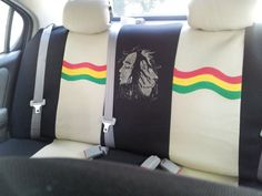 2 bob marley rasta car seat covers | Bob marley, Seat covers and Car ...