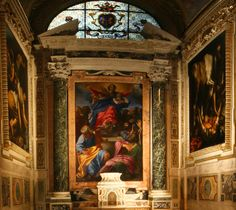 "Travel to: The Cerasi Chapel in Santa Maria del Popolo to see Cavaggio's  to see ""Conversion of Saint Paul on the Road to Damascus"" and ""Crucifixion of Saint Peter."""
