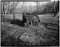 Glendon Iron Works, Northampton Co., PA GENERAL VIEW SHOWING REMAINS OF FURNACE AT GLENDON IRON WORKS. - Glendon Iron Company, Hugh Moore Park near Old Glendon Bridge, Glendon, Northampton County, PA