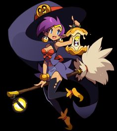 My half-genie daughter Shantae is thinking of being a witch for Halloween! Manga Anime, Anime Art, Game Character, Character Concept, Cute Characters, Disney Characters, Cartoon Games, Video Game Art, Character Design Inspiration