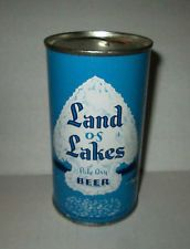 LAND OF LAKES Beer flat top 12oz can, Pilsen Brewing Co., Chicago. Super Clean