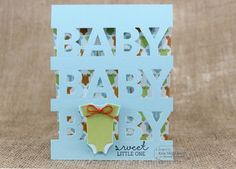 Baby, Baby, Baby...Sweet Little One Card By Keia Shipp-Smith #Cardmaking, #TEMatched, #Baby, #LittleBitsDies, #TE, #ShareJoy
