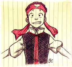 Weee! Finally! I'm done watching Avatar: The Last Airbender!!! (this is Aang wearing a Fire Nation school uniform) m/