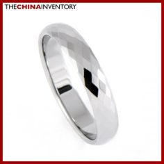 4MM SIZE 11 FACETED TUNGSTEN CARBIDE BAND RING R0909A Lois Hill Jewelry, Tungsten Carbide Wedding Bands, Wholesale Jewelry, Wedding Ring Bands, Band Rings, Jewelry Stores, Costume Jewelry, Rings For Men, Jewelry Design