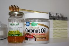 Masca de par cu ulei de cocos si miere- solutia de care parul meu avea nevoie! Coconut Oil, Jar, Organic, Pure Products, Cooking, Masks, Natural, Kitchen, Nature
