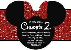 Minnie mickie mouse invitation