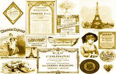 VINTAGE PARIS GOLD PILLOW fabric - bluevelvet - Spoonflower