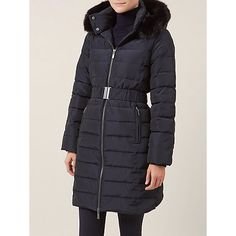 Buy Hobbs Jennet Puffa Jacket, Navy Online at johnlewis.com