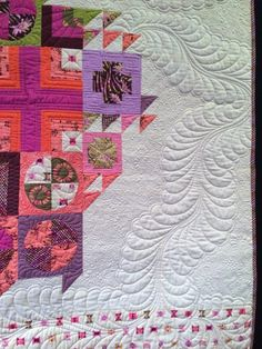 Butterfly quilt by Tula Pink. Quilting by Angela Walters. Photo by QuiltVine.