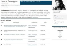 Laura's edits at Encyclopedia Britannica.