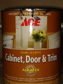 Blog about painting over oak woodwork...Anything Pretty: ACE Cabinet and Trim Paint: Honey Oak's Perfect Companion