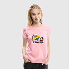 """""""More Love for Germany"""" - Ehe für alle in Deutschland! Feiert das mit tollen Shirts und Geschenken! #love #germany #liebe #ehe #ehefüralle #homoehe #homosexuelle #schwul #lesbisch #gleichberechtigung #liebe #lovewins #deutschland #gesetz #lgbt #sprüche #shirts #geschenke"""