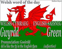 #Welsh word of the day: Gwyrdd/ #Green