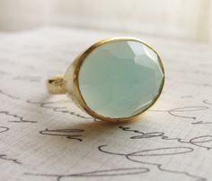 Chalcedony ring.
