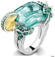 "It has a LEMON WEDGE! :)  ""Mojito"" ring by Piaget"