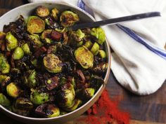 Brussels sprouts and cured pork are perfect partners. This time, the sprouts are paired with smoky Spanish chorizo, along with plenty of garlic, olive oil, and a splash of sherry vinegar to balance it all out.