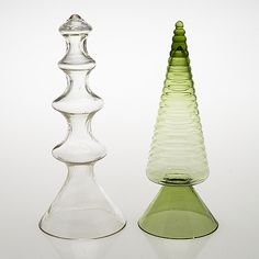 "NANNY STILL - Decorative glass objects ""Neptuna"" and ""Kukkukuuset"" for Riihimäen Lasi Oy, Finland. Glass Design, Design Art, Decorative Glass, Lassi, Bukowski, Scandinavian Design, Be Still, Finland, Modern Contemporary"