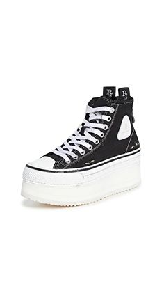 R13 Platform High Top Sneakers | SHOPBOP Platform Sneakers, High Top Sneakers, Denim Branding, Canvas Leather, Clothing Items, Designer Shoes, High Tops, Combat Boots, Bootie Boots