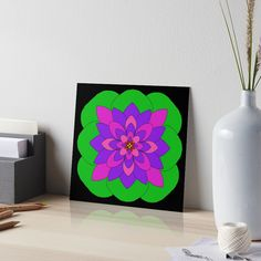 """Mandala Lotus Flower "" Art Board Print by Pultzar   Redbubble"
