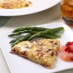 Rosti is a traditional Swiss potato pancake typically served as a side dish but we added ham and cheese to transform it into an easy weeknight supper. Enjoy with steamed asparagus and chunky applesauce on the side.