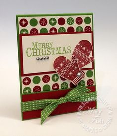 Boxes & More   May 31, 2012  Stampin' Up! Chock-Full of Cheer Holiday Matchbook Make a Mitten