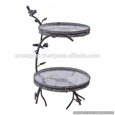 """Adbarrow Court"" Two Tier Cake Stand - Cake stands - Kitchen - Home Furnishings - Catalogue Metal Stool, Metal Vase, Cake Stand Display, Cake Stands, Home Interior Catalog, Metal Cake Stand, Crystal Candelabra, Two Tier Cake, Kiosk Design"