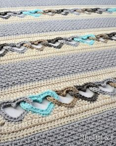 Crochet Patterns For Beginners, Afghan Crochet Patterns, Crochet Bobble Blanket Pattern, Free Heart Crochet Pattern, Crochet Heart Blanket, Crochet Blankets, Heart Patterns, Pretty Patterns, Crochet Hooks