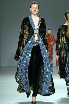 Embroidery Silk Velvet Kimono by Marta Fernandez