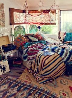 Boho chic room looking stylish and adorable