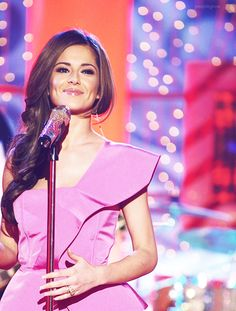 "Cheryl with Girls Aloud performing ""The Loving Kind"" at Paul O´Grady show"