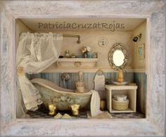 Cuadro Baño con Miniaturas hecho por encargo