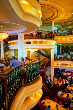 the dinner room on our ship, Freedom of the Seas Great discounts in everything