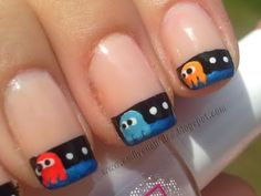 Pac-Man Tip French Manicure