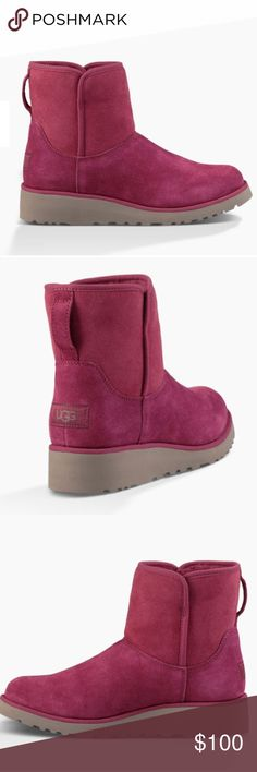 Burgundy/ pink uggs Brand new never worn with box UGG Shoes Winter & Rain Boots